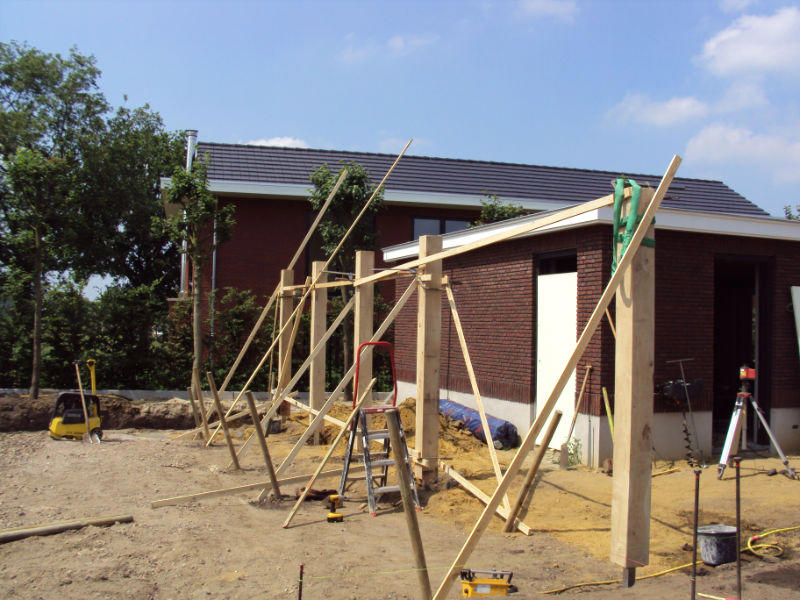Houten vlonder en pergola jwk bouw - Bedek een houten pergola ...