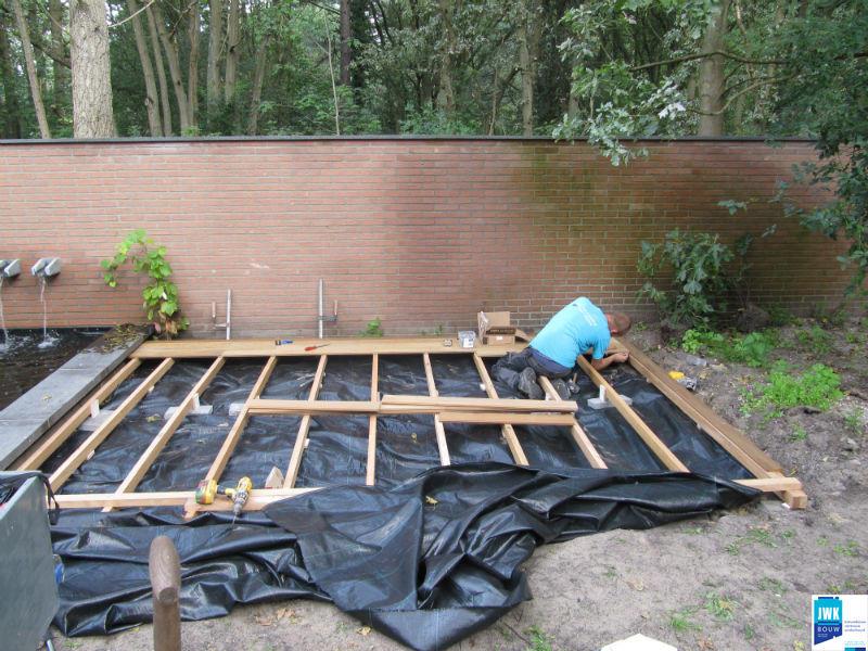 Realisatie hardhouten vlonder jwk bouw - Bouw een overdekt terras ...